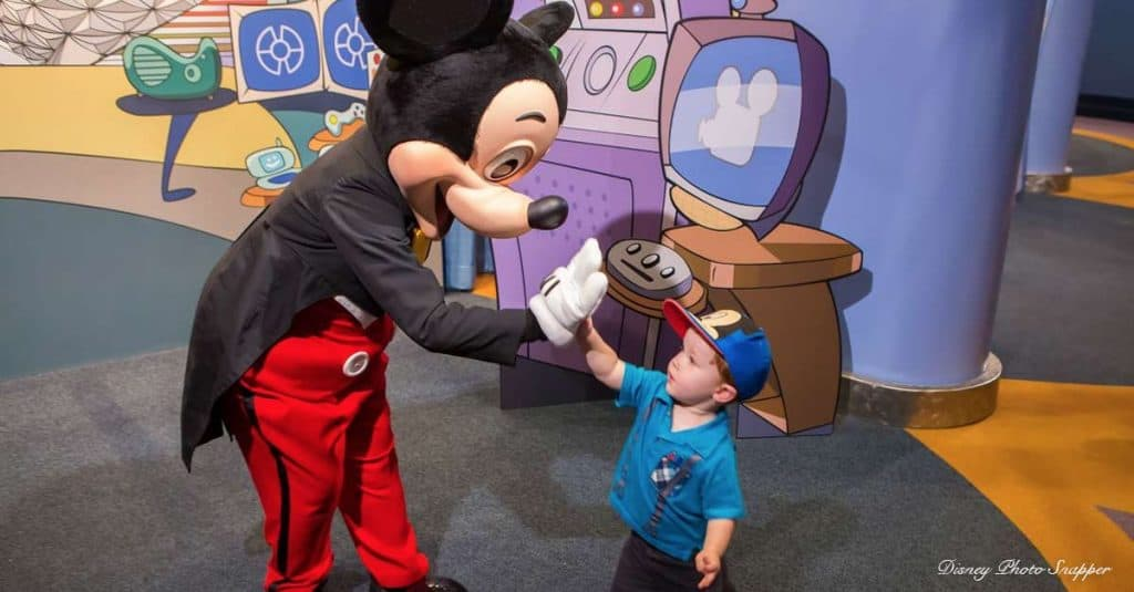 Mickey Mouse And Toddler