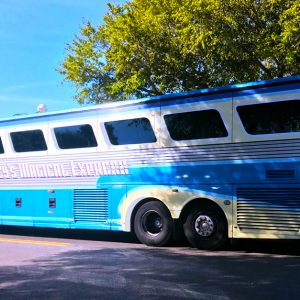 Disney\'s bus service from Orlando\'s MCO airport to Disney Resorts.