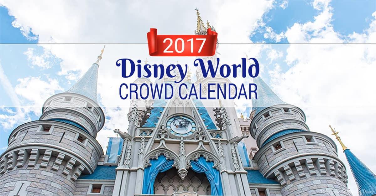 2017 Disney World Crowd Calendar