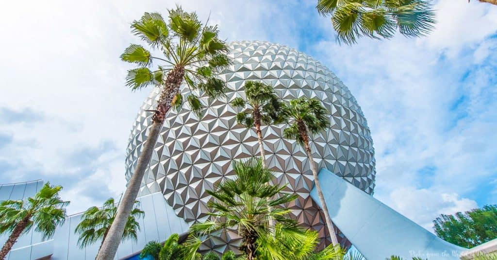 Spaceship Earth Palm Trees