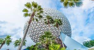 Spaceship Earth Palm Trees