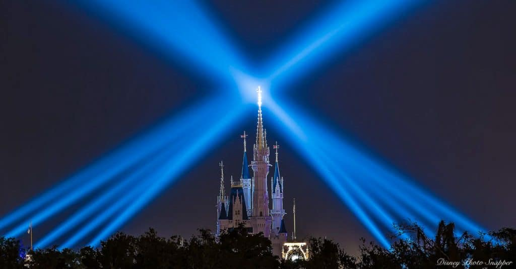 Castle Night Spotlight