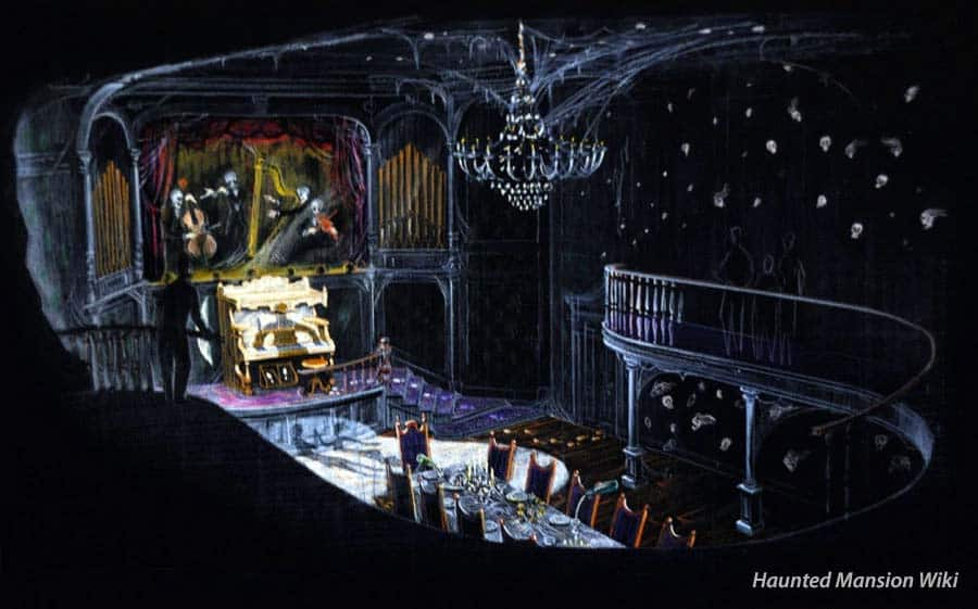 Haunted Mansion Dining Room Scene