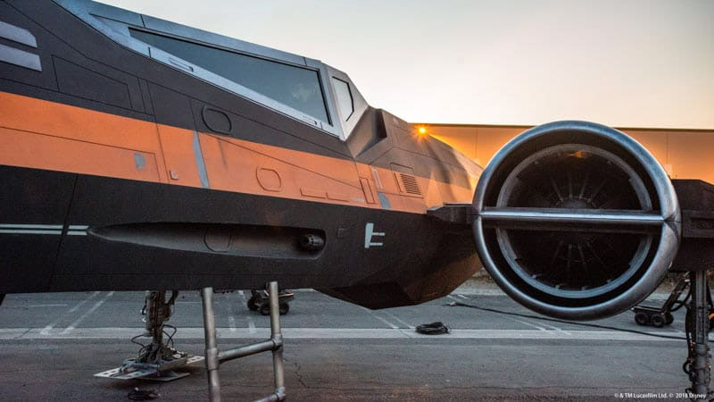 X-wing Starfighter pictured under development for Star Wars: Galaxy's Edge. (Disney)