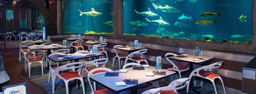 SeaWorld sharks underwater grill dining