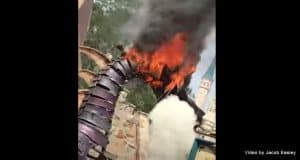 Maleficent Dragon Catches Fire