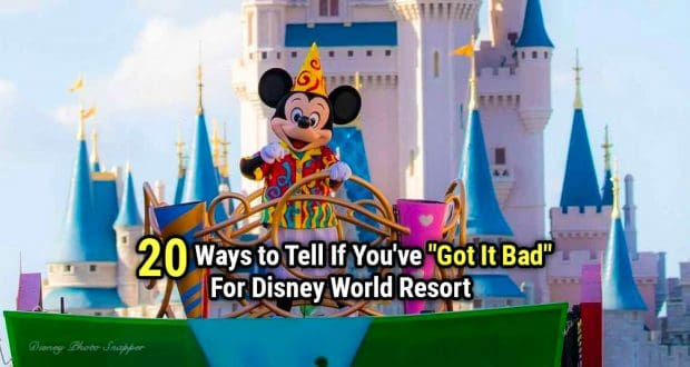 20 Ways To Tell You've Got It Bad For Disney World Resort