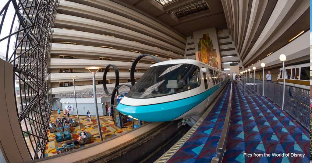 Contemporary Resort Monorail