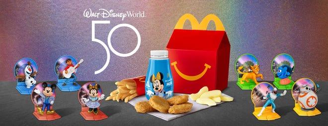 Disney character toys at McDonalds