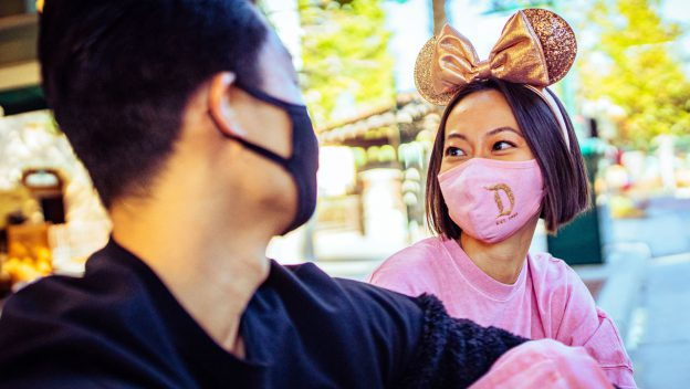 DIsney guests with masks