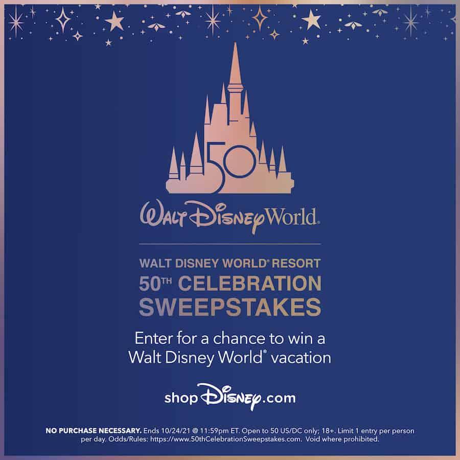Walt Disney World 50th Sweepstakes
