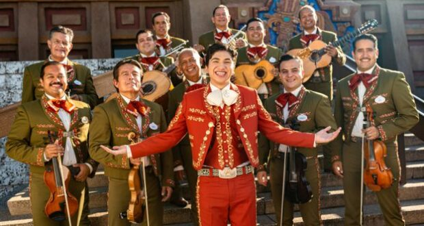 Anthony Gonzalez with Mariachi Cobre in EPCOT